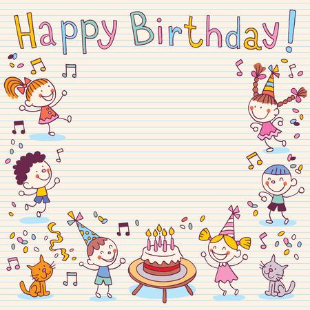 Birthday card Buon Archivio Fotografico - 32689434