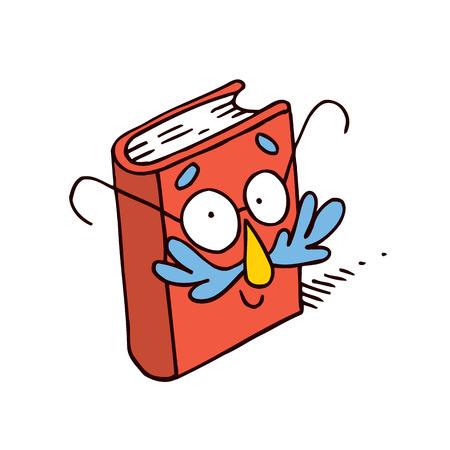 literary characters: cute cartoon book character mascot