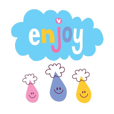 wordings: Enjoy wordings illustration