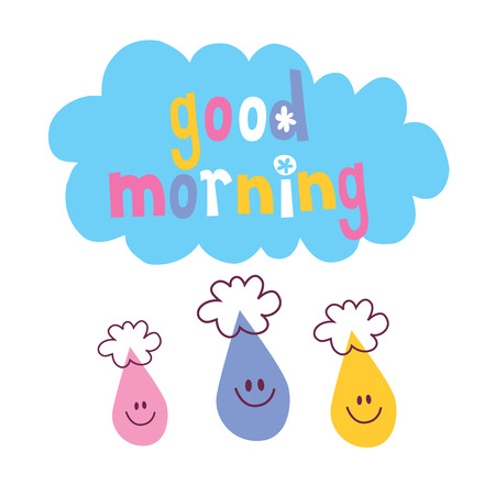 Good Morning word quote Vector