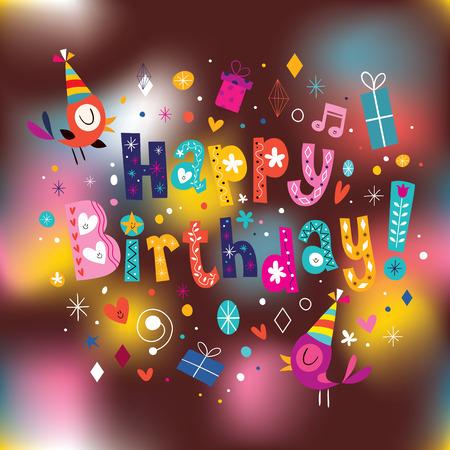 Tarjeta de feliz cumpleaños Foto de archivo - 32778496