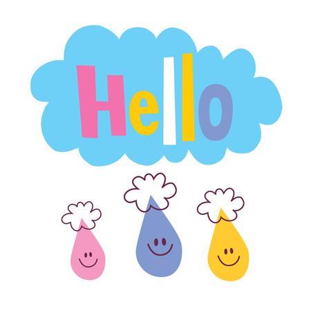 say hello: Hello illustration  Illustration