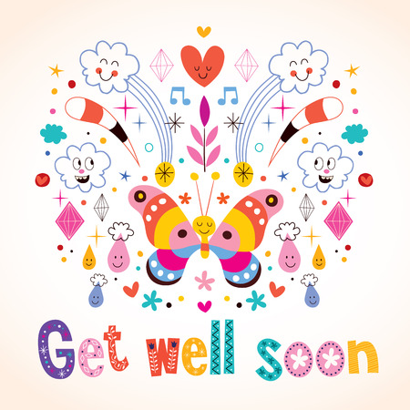 get well: Get well soon greeting card