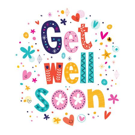 soon: Get well soon wens kaart