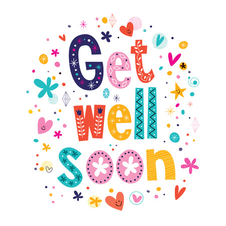 Get well soon greeting card