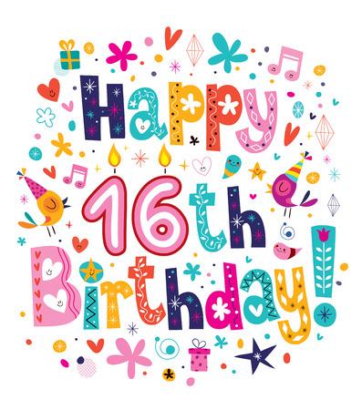 16th: Happy 16th Birthday