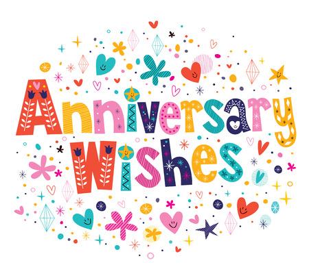 anniversary wishes: Anniversary wishes Illustration