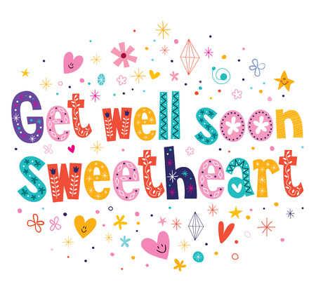 Get well soon sweetheart greeting card Vector