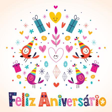 Feliz Aniversario Brazilian Portuguese Happy Birthday Card Royalty