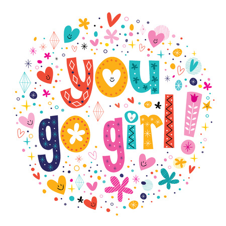 congratulations word: You go girl card