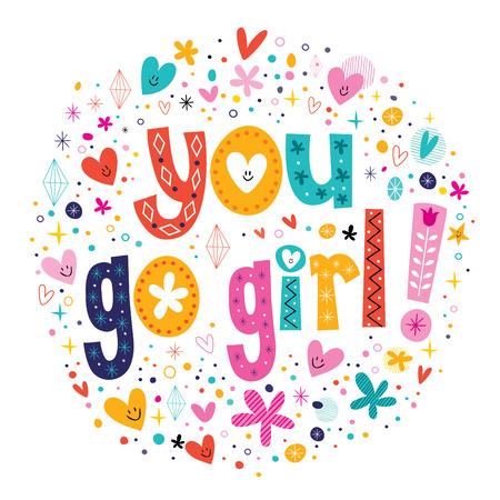 good cheer: You go girl card