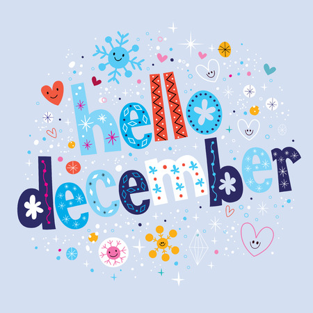 december: hello december Illustration