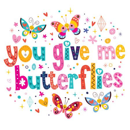 donna farfalla: Se mi danno le farfalle Vettoriali