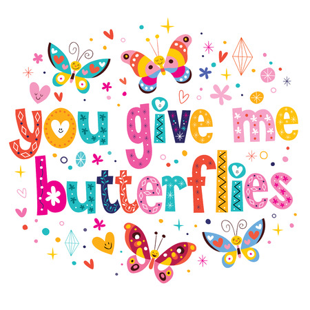 butterfly isolated: You give me butterflies Illustration