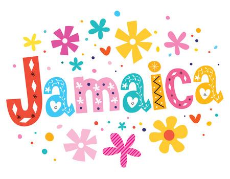jamaica: Jamaica vector lettering decorative type