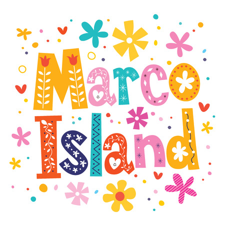 marco: Marco Island vector lettering decorative type Stock Photo