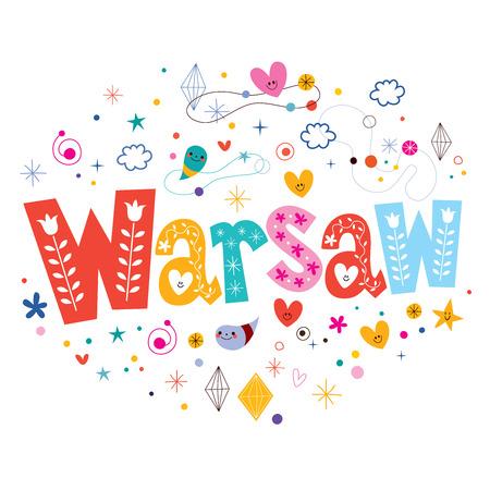 warsaw: Warsaw typography lettering design