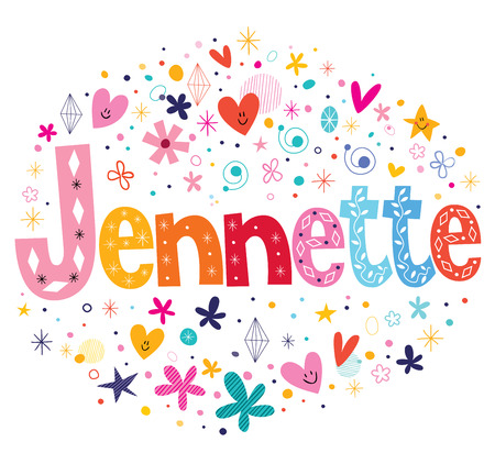 sweet stuff: Jennette girls name decorative lettering type design