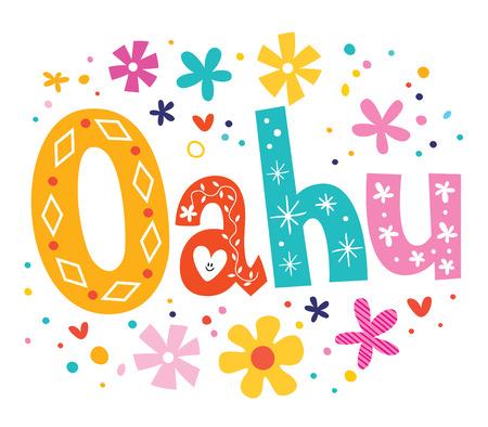 oahu: Oahu vector lettering decorative type
