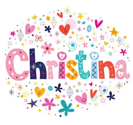 christina: Christina name design Stock Photo