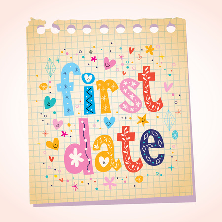 first love: first date notepad paper message reminder