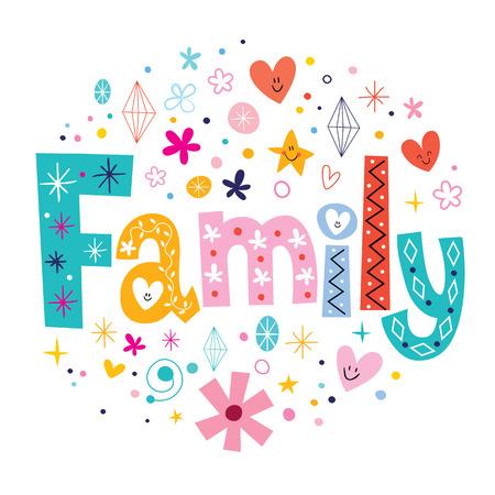 homely: Family Stock Photo
