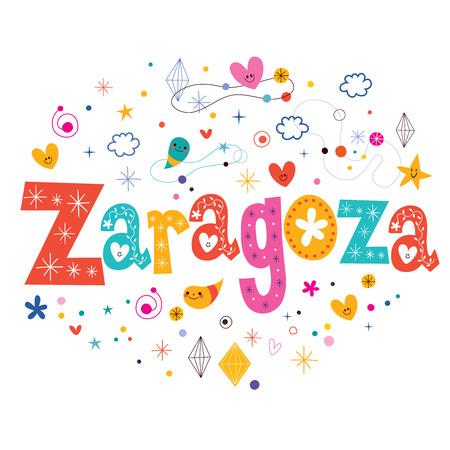 zaragoza: Zaragoza text typography lettering design