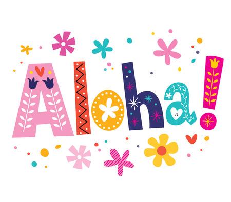 Aloha vector lettering decorative type