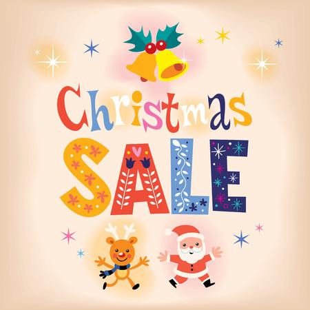christmas sale: Christmas sale retro design Stock Photo