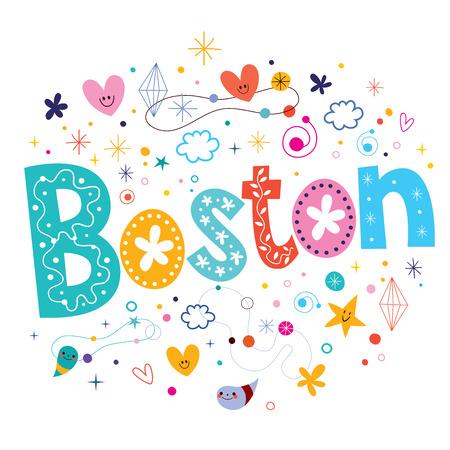 boston: Boston decorative lettering text