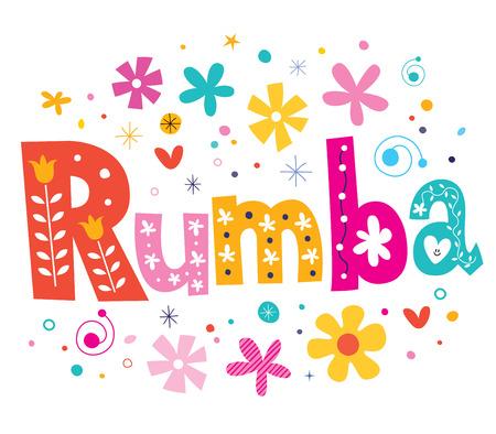 rumba: rumba vector lettering decorative type
