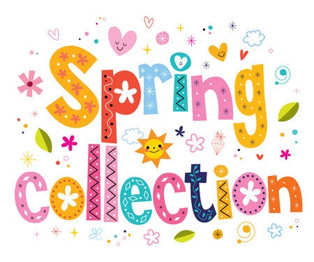 spring collection lettering decorative text Imagens