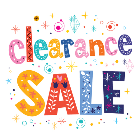 clearance sale decorative lettering type design