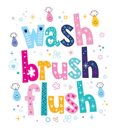 flush: wash brush flush decorative lettering type design