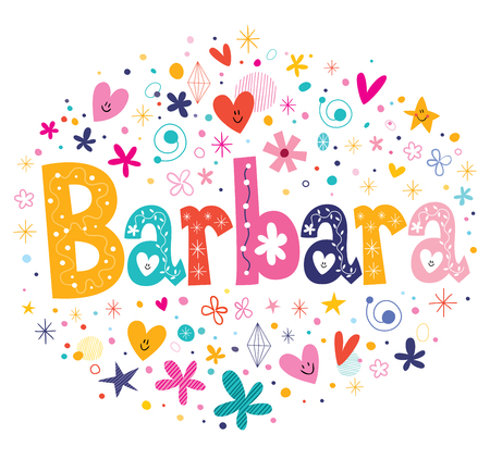 Barbara naam ontwerp Stockfoto
