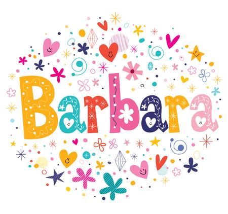 Diseño del nombre Barbara Foto de archivo