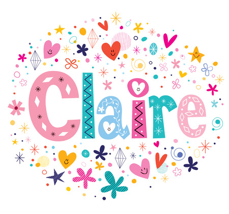 Diseño del nombre Claire Foto de archivo