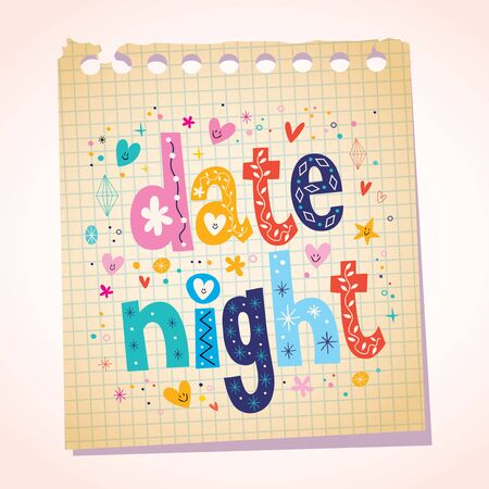 date night: date night notepad paper message reminder