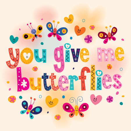 give: You give me butterflies card