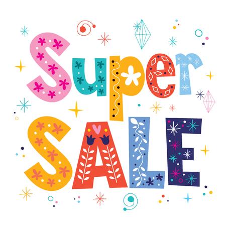 Super sale decorative lettering type design