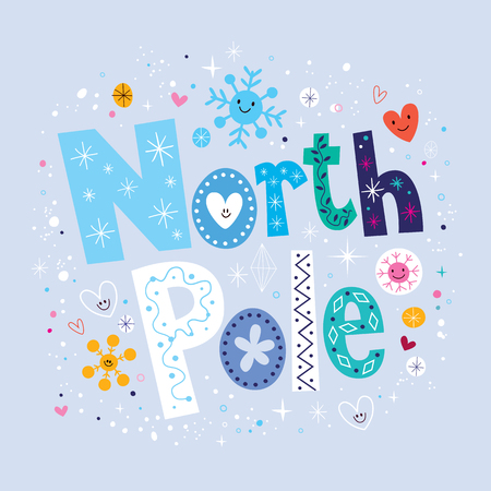 north pole sign: North Pole Stock Photo