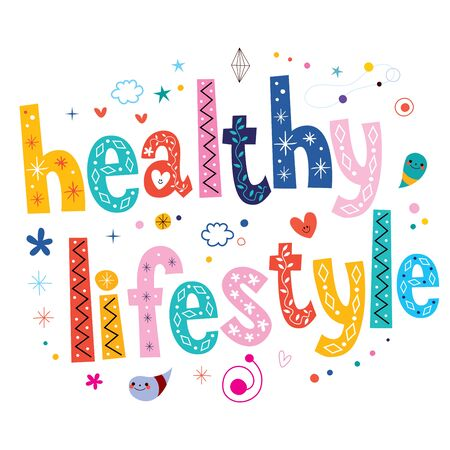 fit body: healthy lifestyle typography lettering text design Stock Photo