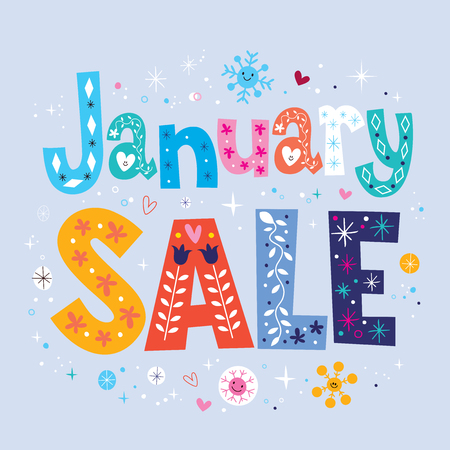 sales person: January sale Stock Photo