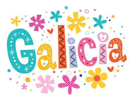 galicia: Galicia vector lettering decorative type