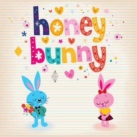 mating: Honey bunny Stock Photo
