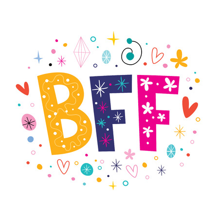 BFF - Best Friends Forever Stockfoto