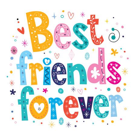 mejores amigas: Mejores amigos para siempre Foto de archivo