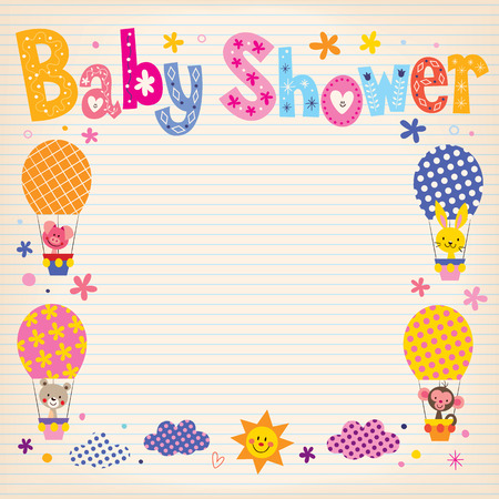 hot announcement: Baby Shower invitation card
