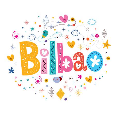 bilbao: Bilbao typography lettering design Stock Photo