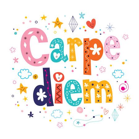existential: carpe diem phrase motivational quote